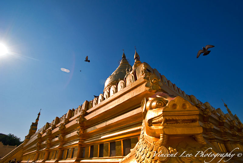 One of the famous golden pagoda in Bagan Myanmar
