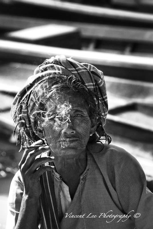 Pao tribe lady at Inle Lake