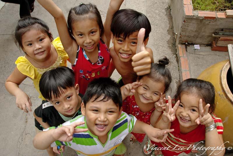 Happy faces of children