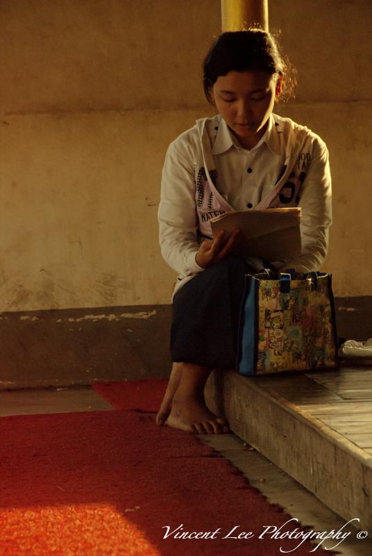 A young Burmese girl