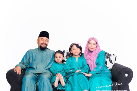 Muslim family portrait