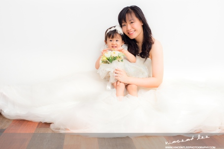 mother and daughter wedding gown theme