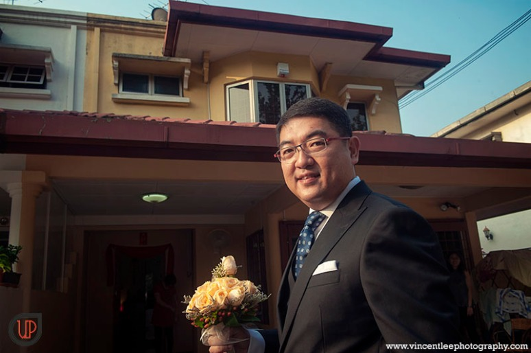 Groom arrival at bride's house