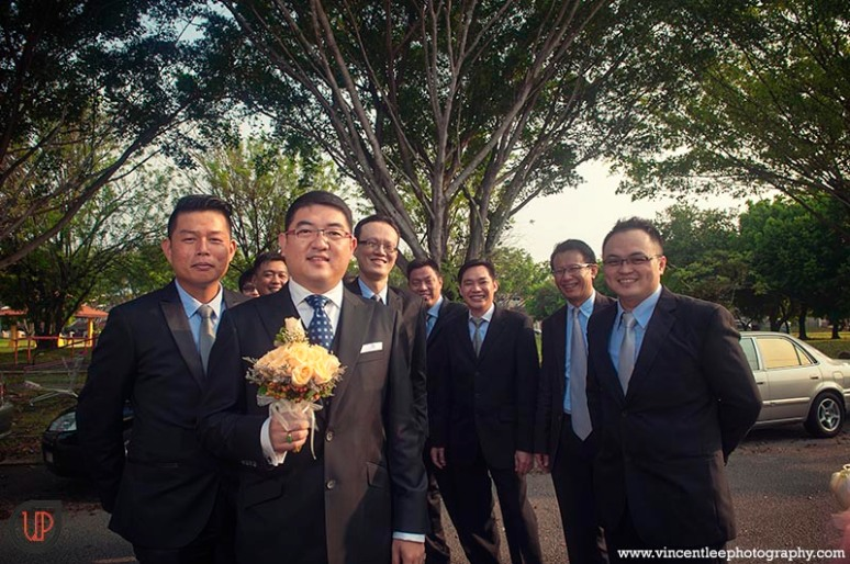 Groom and all his groomsmen