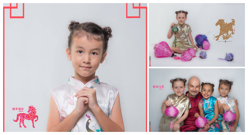 CNY theme Promo family portrait