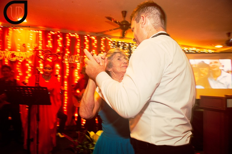 Duncan having his dance with his mom
