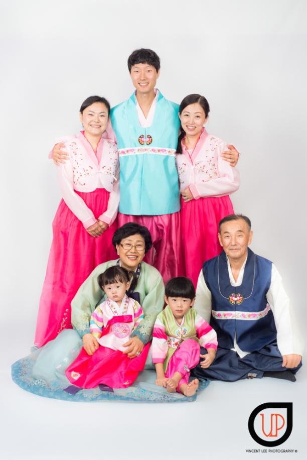 Won Jia korean family portrait