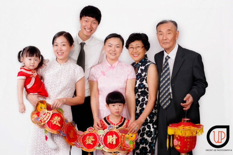 Won Jia korean family portrait