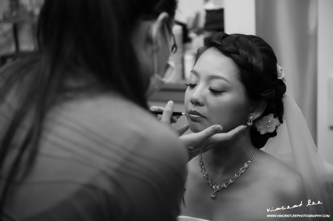 Joy's bridal make-up session