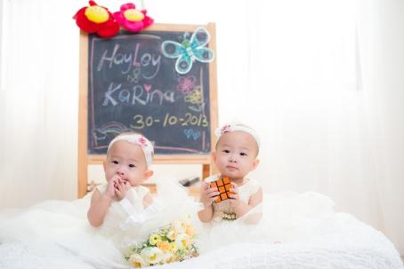 Baby twins portrait