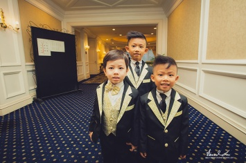 Boys ready for the walk down the aisle