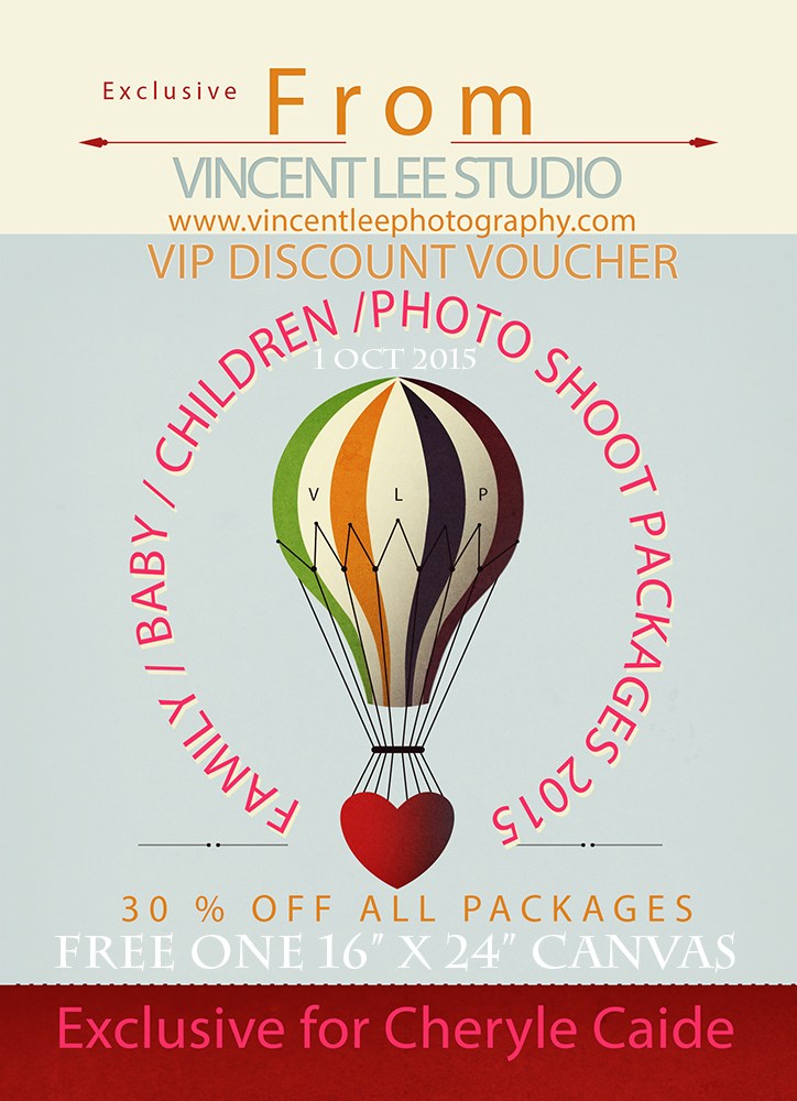 VIP discount voucher, family portrait, baby photoshoot.