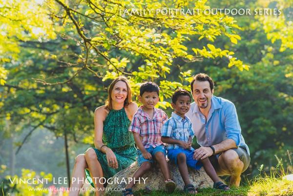 Andrew + Vicky family portrait