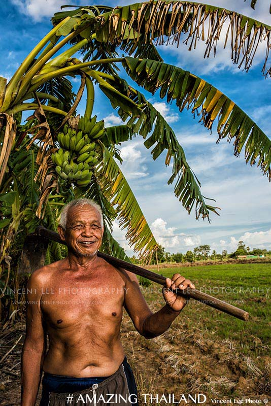 Old farmer - His 1st photo in his life time