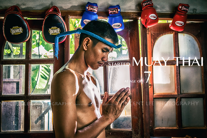 Muay Thai champion boxer