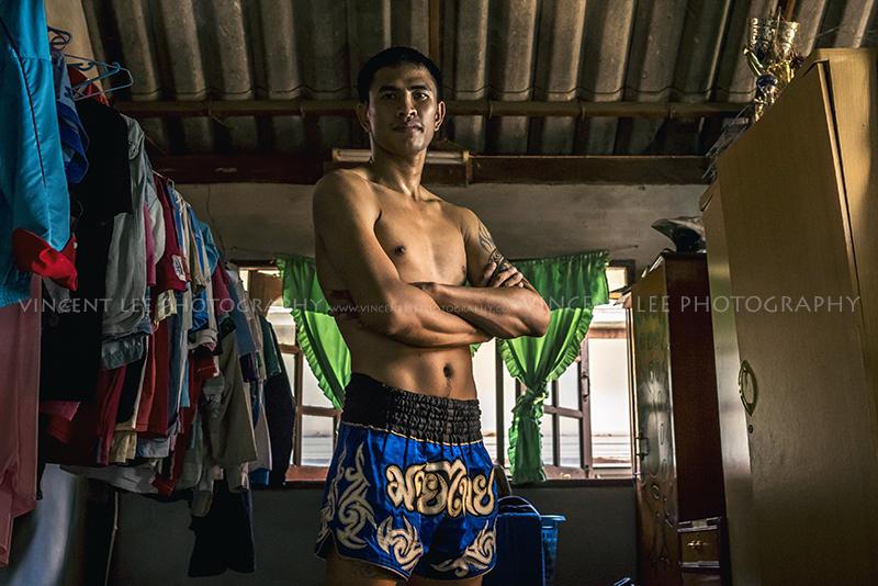 Muay Thai champion boxer
