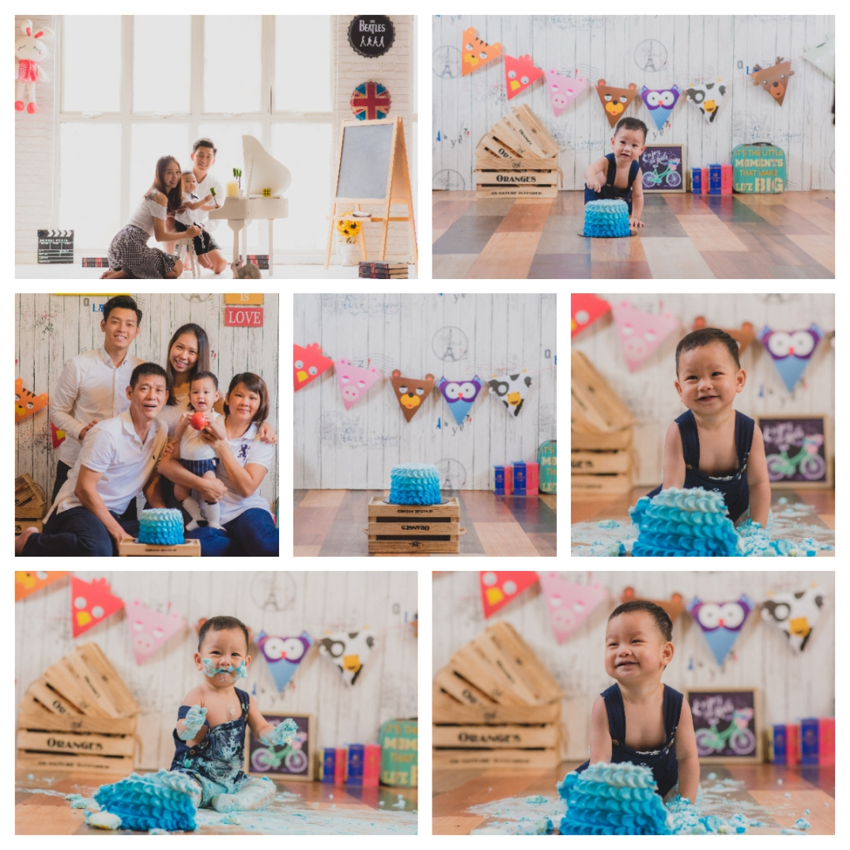 Cake smashing photography kuala lumpur taman desa vincent lee studio